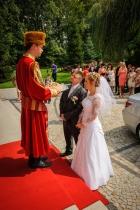 Staropolskie przywitanie Pary Młodej chlebem i solą przez Szlachcica, wesele 2012