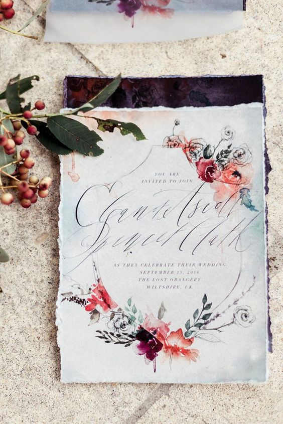 zaproszenia ślubne motywy kwiatowe
