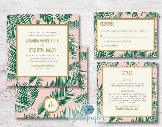 zaproszenia ślubne ogród botaniczny