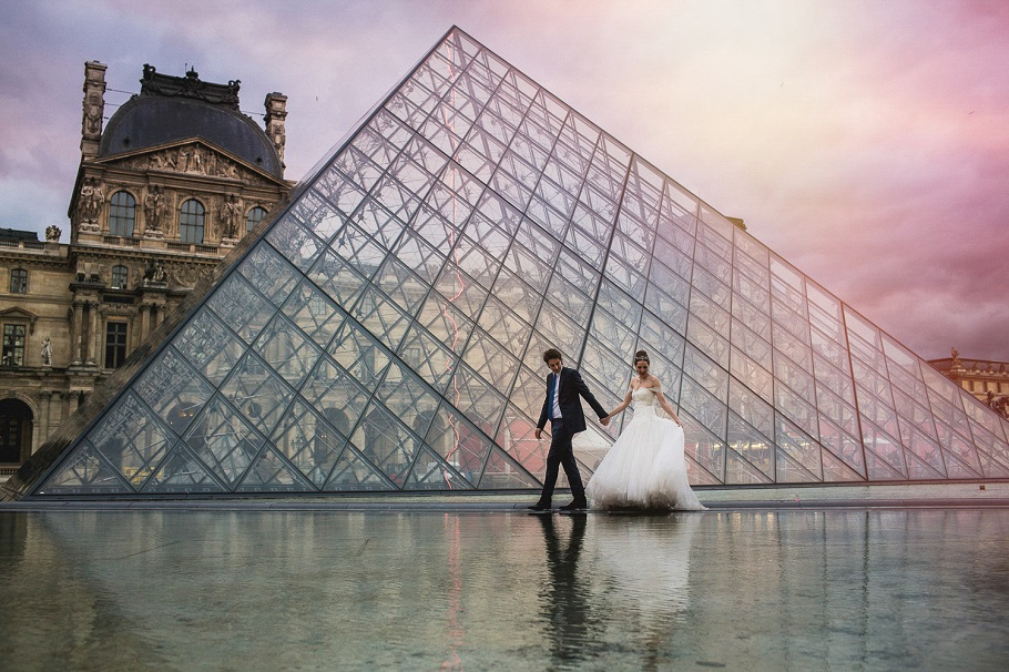 paryż sesja ślubna