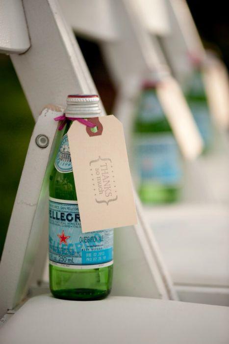 woda dla gości weselnych