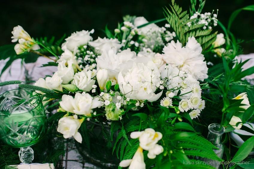 botaniczna sesja ślubna