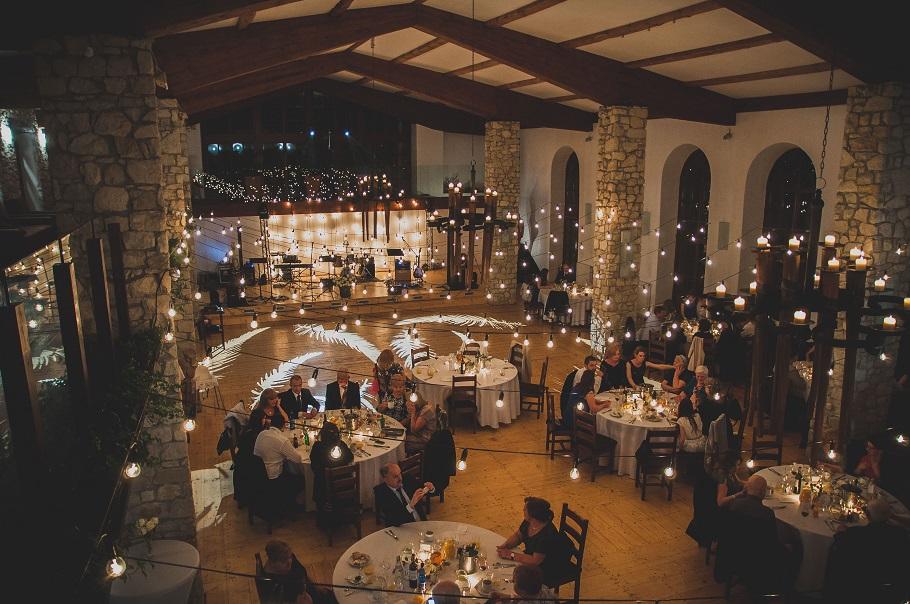 świetlne dekoracje weselne