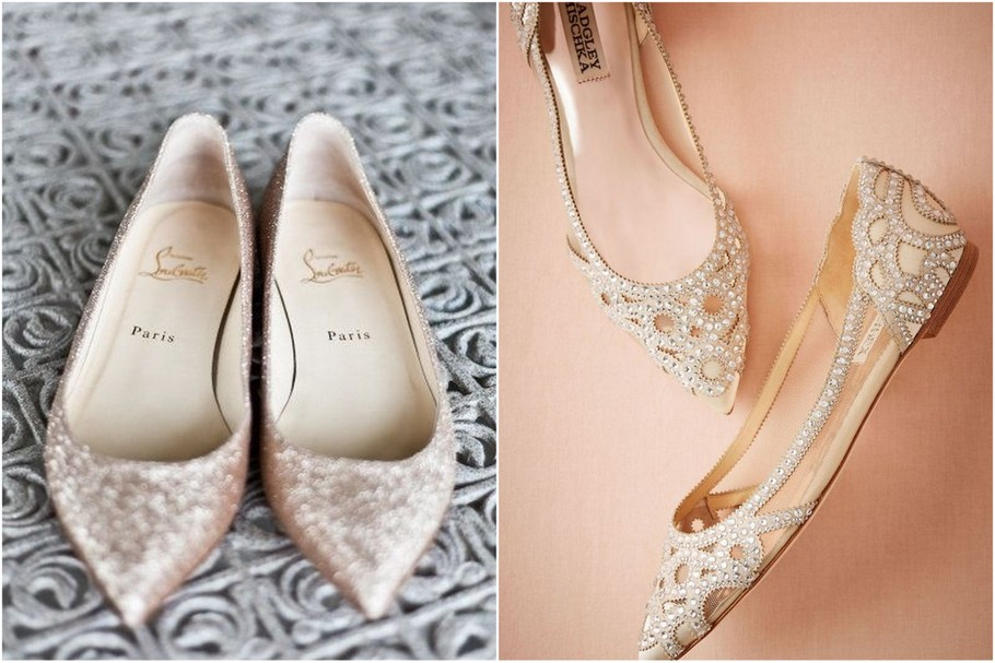 f628f8535bc9b Pomysł na płaskie buty na ślubie