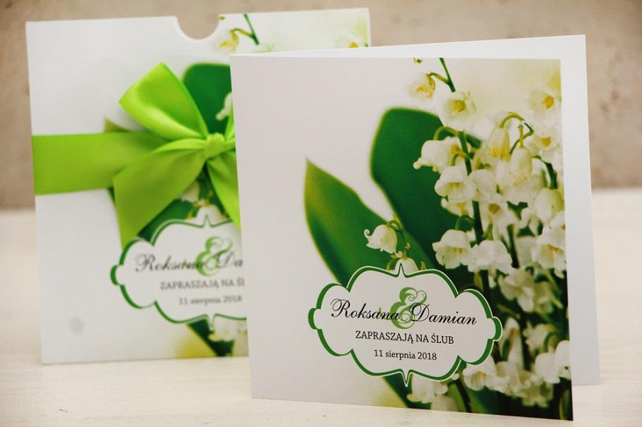 białe kwiatowe zaproszenia ślubne