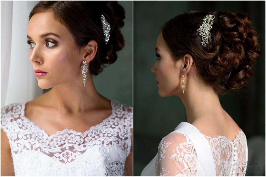 biżuteria ślubna ozdobne grzebyki