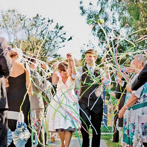 serpentyny na ślubie