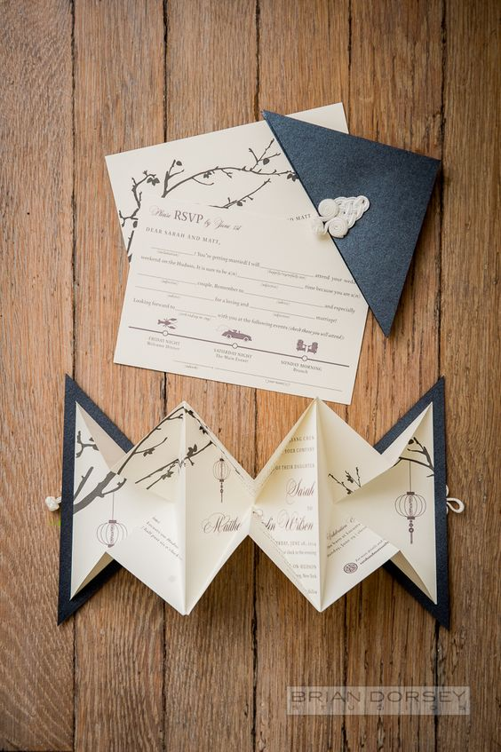 origami na ślubie