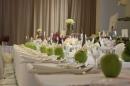 zielone jabłko, dekoracja sali weselnej
