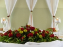 sala weselna, dekoracje
