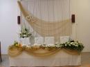 stól pary młodej, dekoracja ślubna