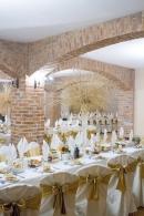 złote dekoracje wesele