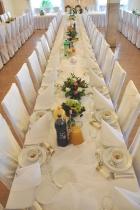bukiety na stół weselny