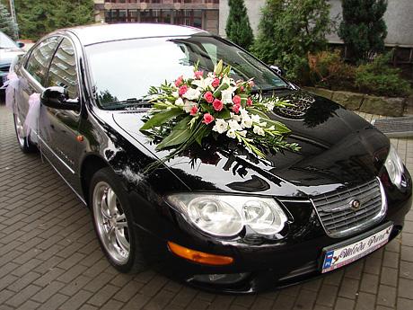 Tylko na zewnątrz dekoracja samochodu -jaka taśma zamiast przyssawek - Ślub i wesele YW78