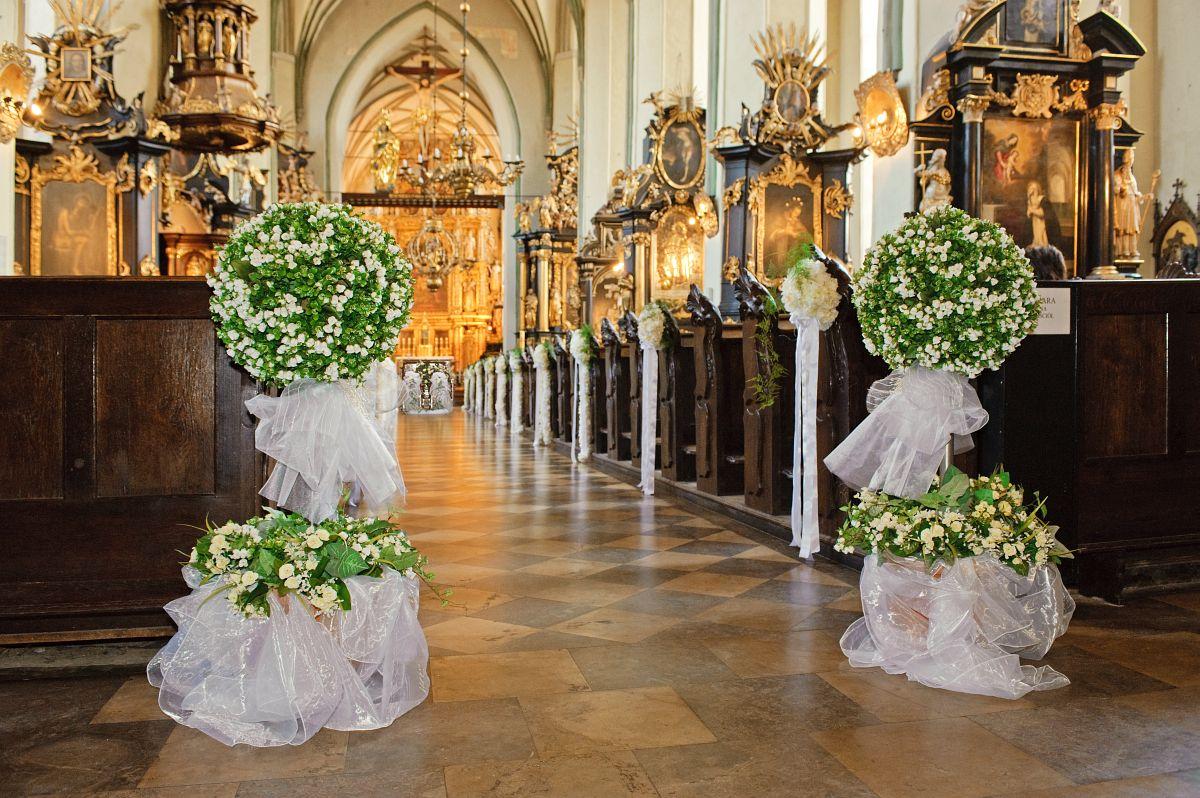 Biel Ecru Dekoracje ślubne Dekoracje ślubne Kościoła