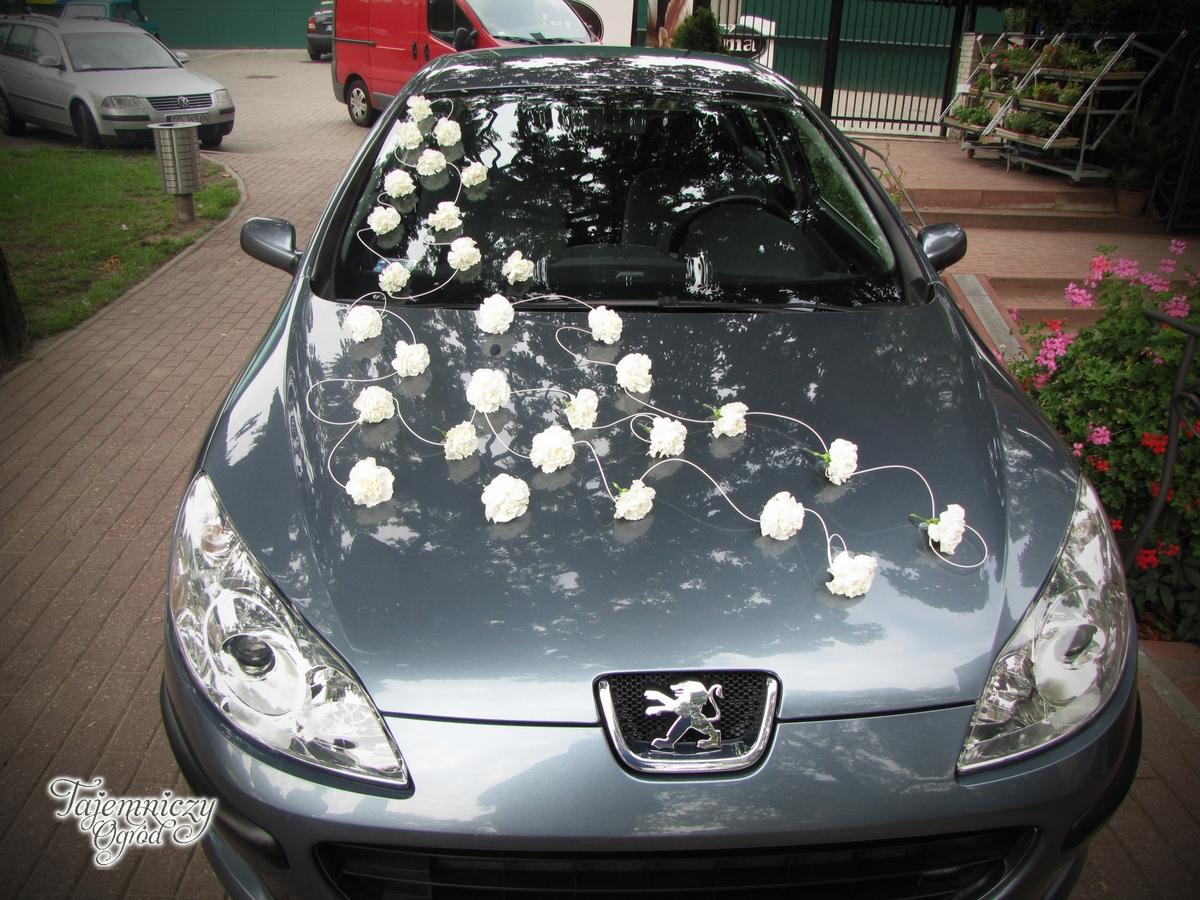 Bardzo dobryFantastyczny Dekoracja ślubna samochodu » dekoracje ślubne, dekoracja samochodu JB94