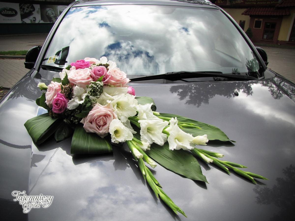 Niesamowite Dekoracja ślubna samochodu » dekoracje ślubne, dekoracja samochodu VR71