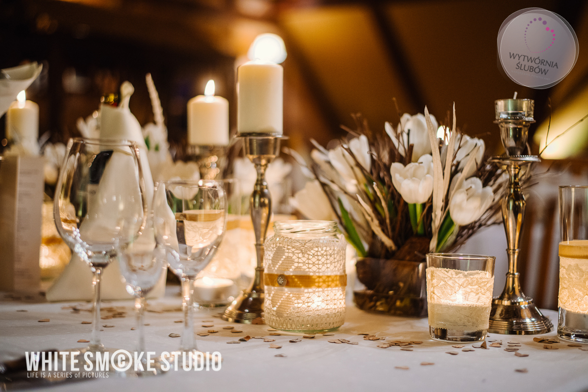 Dekoracje ślubne Dekoracja Sali Weselnej Rustykalny ślub