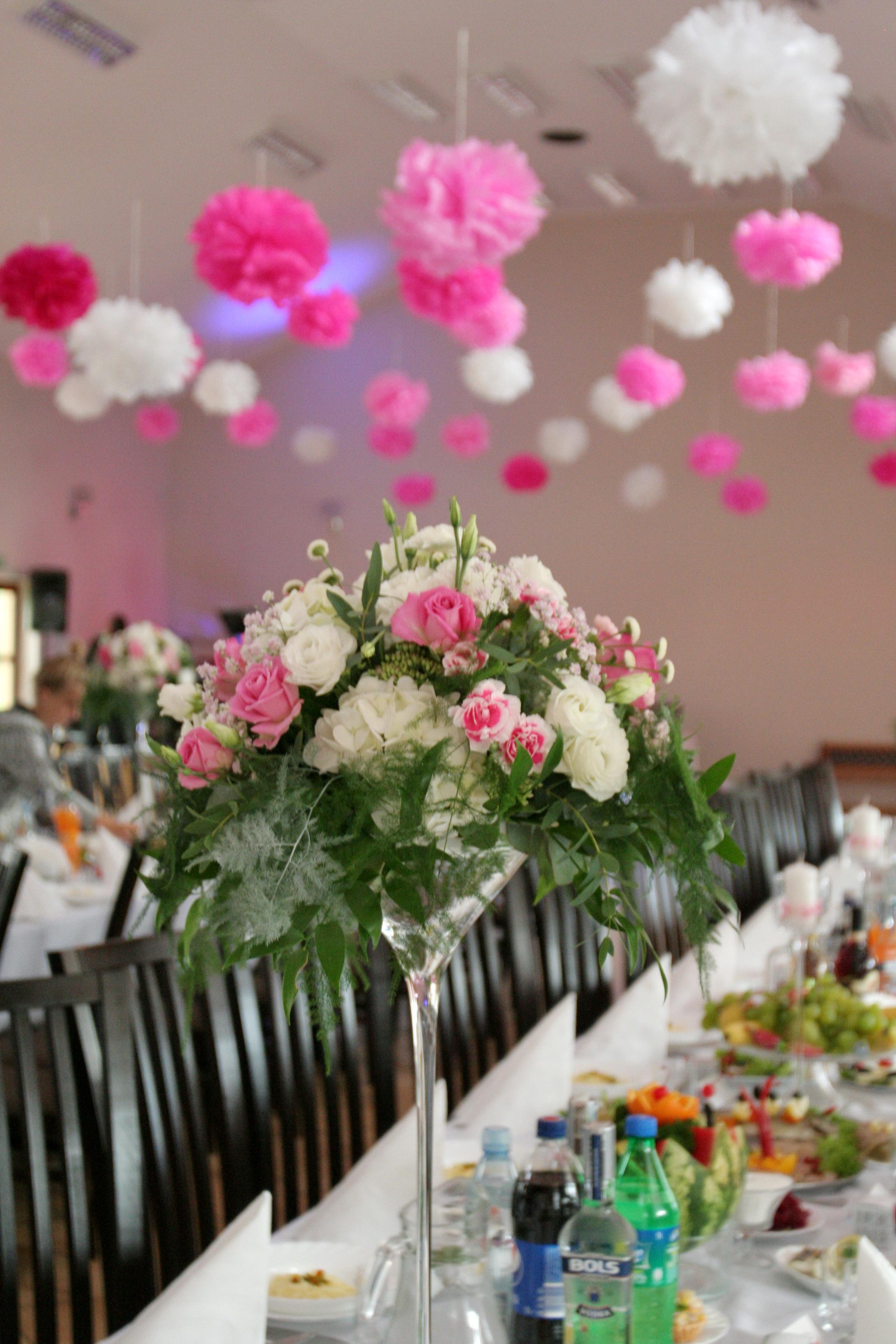 Dekoracje ślubne Dekoracja Sali Weselnej ślubne Dekoracje Wazony