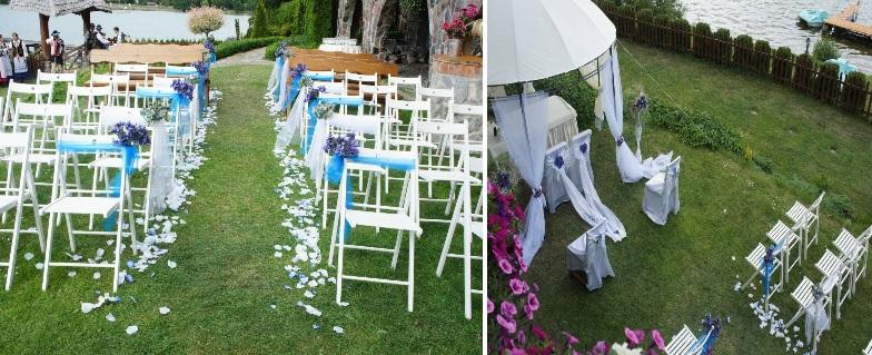 wesele w plenerze, ślub w namiocie