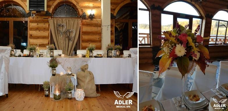 sala na wesele, rustykalne