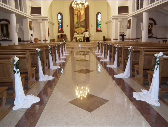 dekoracja kościoła na ślub kielce