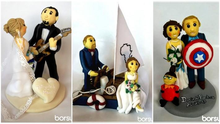 spersonalizowane figurki na tort weselny
