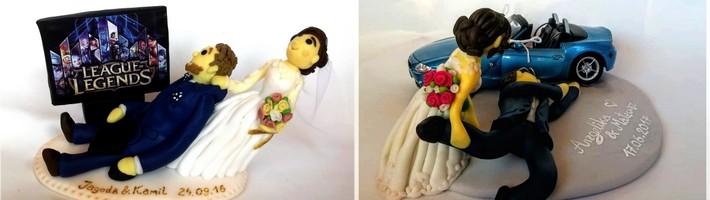 spersonalizowana figurka na tort weselny