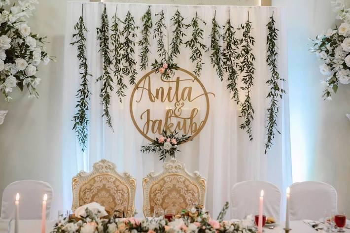 koło z imionami na wesele