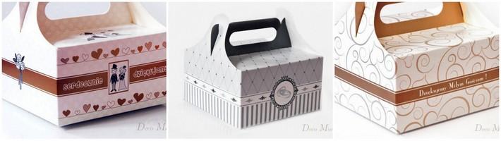 pudełko na ciasto wesele