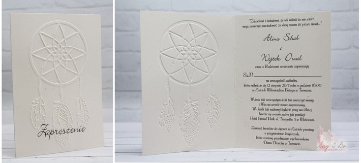 boho zaproszenia ślubne