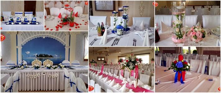 dekoracje sali weselnej kartuzy